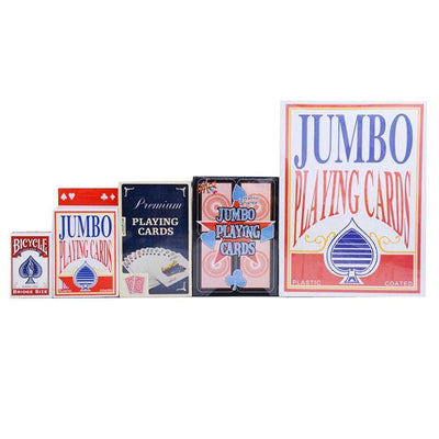 "Jumbo Playing Cards 6.7 X 4.8"" Huge Poker Cards Outdoor Family Party Games"