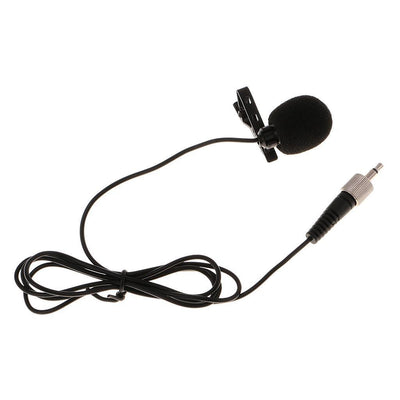 Condenser Lavalier Microphone with 3.5mm for Sennheiser Clip on Mic Black