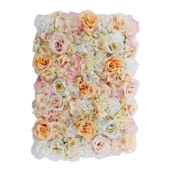 Artificial Flower Wall Panel for Wedding Venue Flower Pillar Main Road Decor