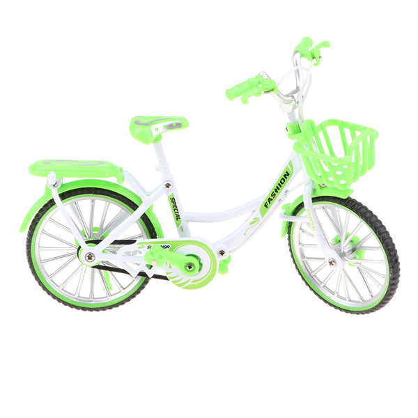 1:10 Green Die-cast Metal BM-X mini Bicycle with Basket Collectible Presents