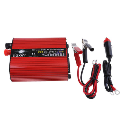 500W Car Power Inverters 12V to 110V Modified Sine Wave Dual USB Converters