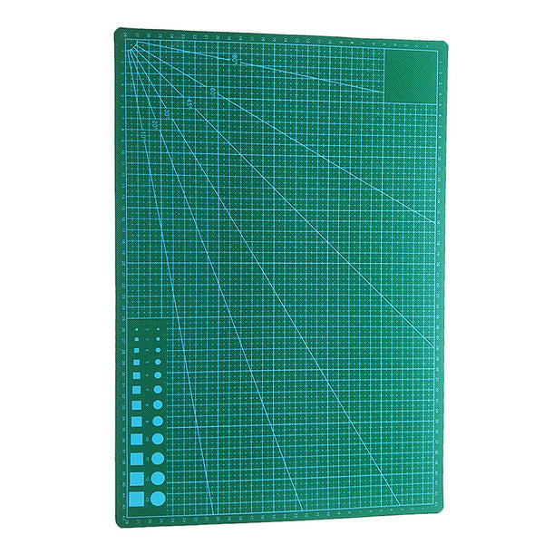 A3 PVC Cutting Mat Craft Quilting with Grid Lines Printed Board Black Core