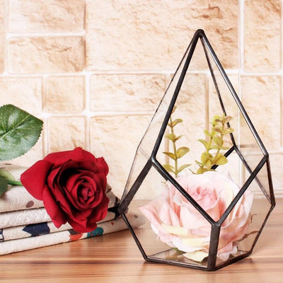 2pcs Metal Geometric Terrarium Succulent Plant Planter Jewelry Candle Holder