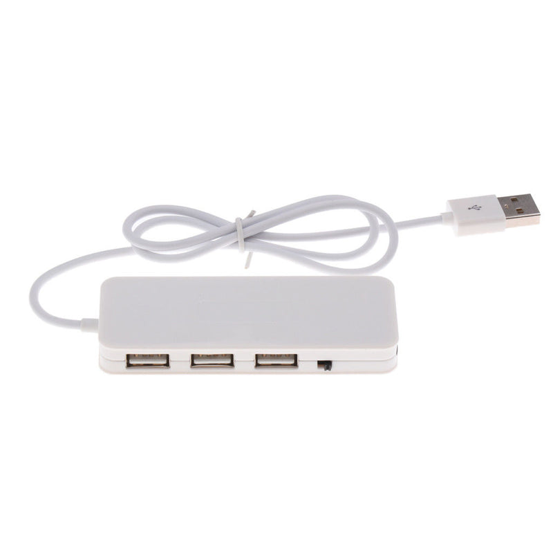 USB2.0 Hub 3Ports USB Sound Card 2 in 1 External Stereo Audio Mic Adapter