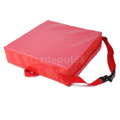 "Portable Kid Dining Chair Booster Cushion Soft Seat Pad 3"" Thick Red"