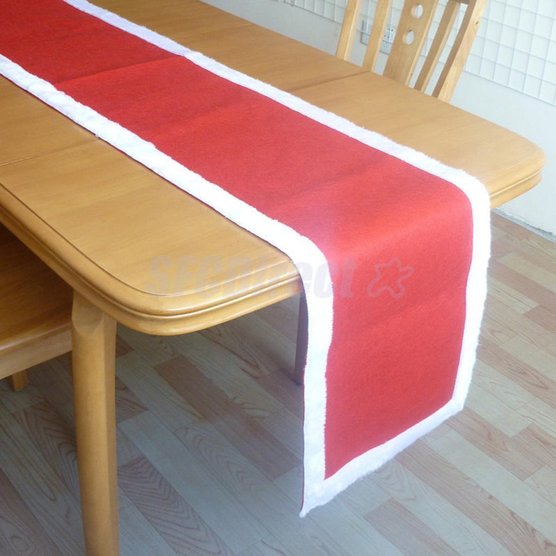 Christmas Table Runner Table Cloth Xmas Party Table Decor 7.80 x 1.31 ft