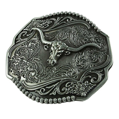 Classic Alloy Cowboy Belt Buckles Round Men's Belt Buckles Accessories Gray
