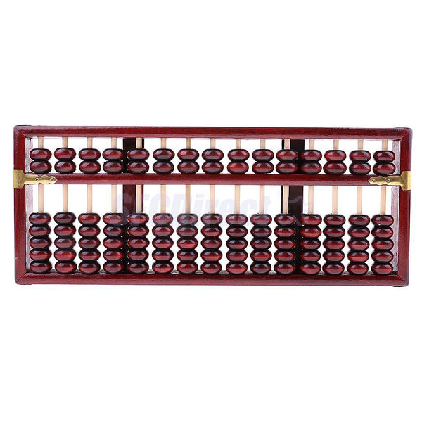 15 Column Chinese Wooden Bead Arithmetic Abacus for Children Adults Gift