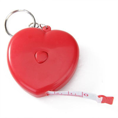 "1x Heart Shape Retractable Tape Measure Sewing Tailor Ruler 60"" Key Ring"