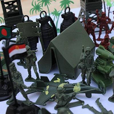 5cm Army Men Assorted Action Figures Play Set w/ Assorted Accessory - 170pcs