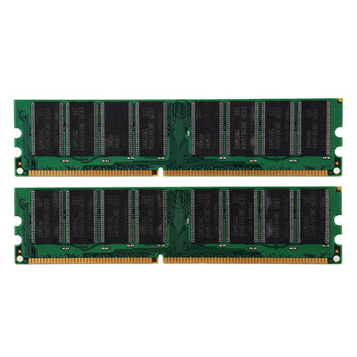 (2x1GB) DDR 400 MHz PC3200U Non-ECC Desktop PC DIMM Memory RAM 184-pin K2S8 S0S4