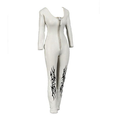 1/6 White PU Leather Jumpsuit for 12inch Catwoman Kumik Female Body Hot Toys