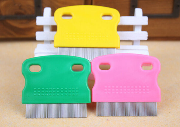 Hair Lice Nit Pets Flea Egg Dirt Dust Remover Steel Tooth Comb Health Brush 3C