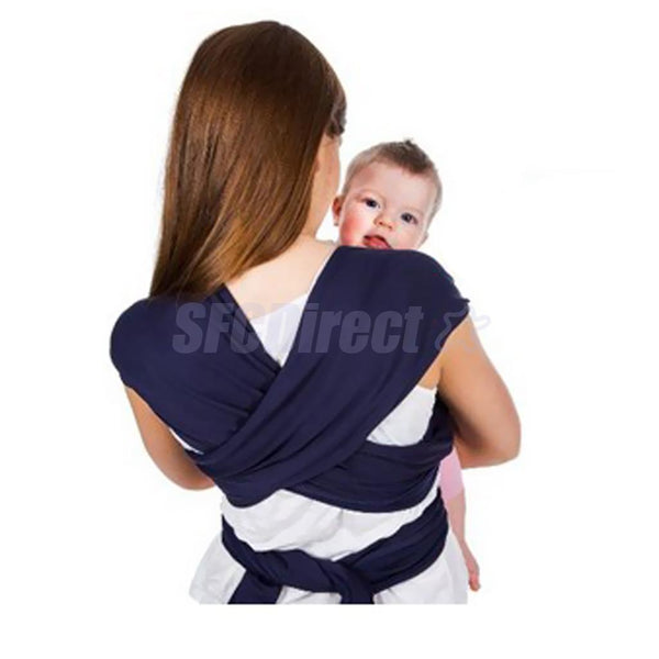 Quality Baby Sling Stretchy Wrap Carrier Breastfeeding Backpack Dark Blue