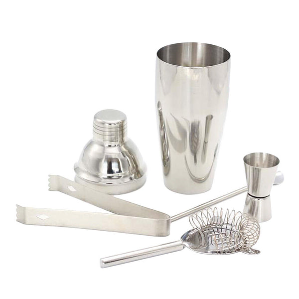 5pcs Stainless Steel Cocktail Shaker Mixer Bar Tool Set Martini Maker 550ml