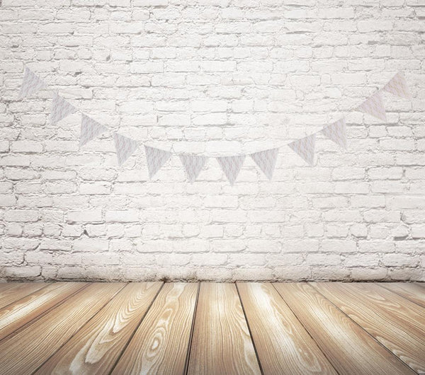 2.4yd Burlap Hessian & Lace Bunting Banner Rustic Shabby Wedding Venue Decor