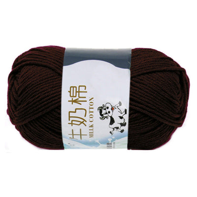 1 group Milk Cotton Yarn For Hand knitting Soft(Brown)Line rough about 2 K8 M0Y7