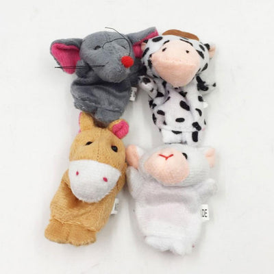 12Pcs Finger Puppets Animal Plush Baby Story Telling Props Educational Toys