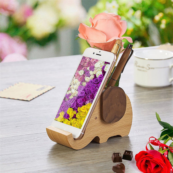 Unfinished DIY Wood Pen Container Elephant Design Kids DIY Crafts Supplies
