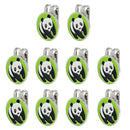 10 Sets of Cute Panda Golf Ball Markers with Magnetic Golf Hat Clip