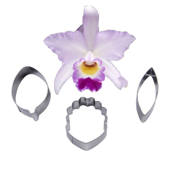 Cake Cookie Cutter StainlessSteel FOUR-C Orchid Flower Cattleya Sugar Rolled、New