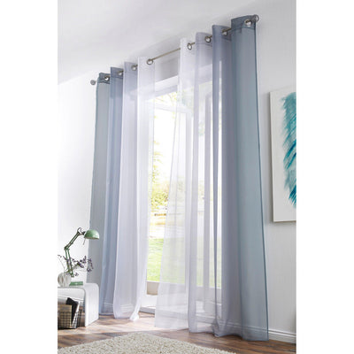 2pcs Voile Sheer Window Panel Curtains 140x225 cm Grommet with Tiebacks