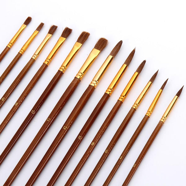 38pcs Artist Paint Brushes Set with Roll Up Bag for Acrylic Oil Watercolour
