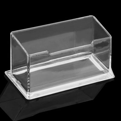 1* Office Table Business ID  Card Box Acrylic Display Stand Desktop Zw3