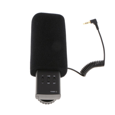 MIC-03 External 3.5mm Stereo Mic Microphone for Canon Nikon DSLR Camera DV