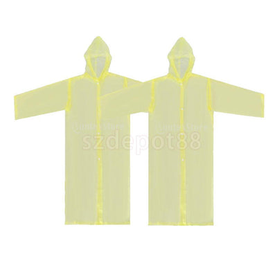 Reusable Unisex Kids Raincoat Poncho Portable Waterproof Outwear One Size YL