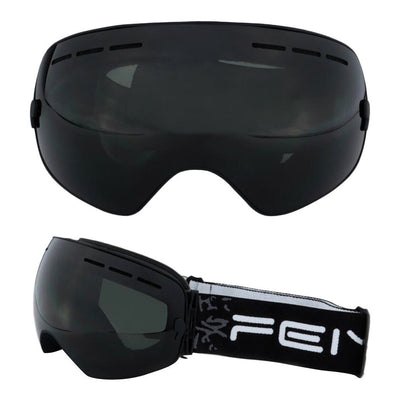 New Ski Snowboard Goggles Full Mirror Coated Spherical Dual Lens VLT 7.4%