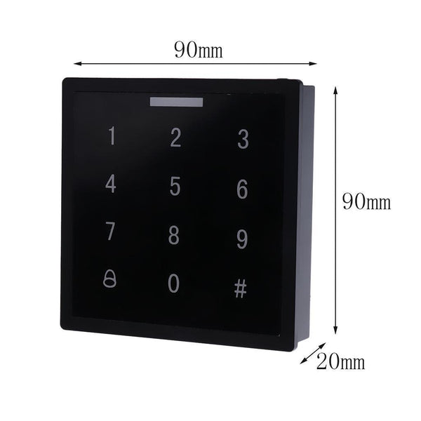 125Khz DC12V Touch Home Security Door Access Controller Support 1000 Users