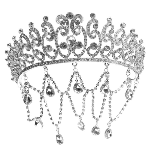 Crystal Tiara Crown Headband for Wedding Prom Bridal Princess Sliver Jewelry