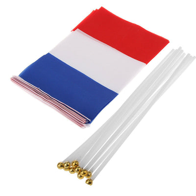 Lot 24pcs France & Spain Hand Waving Flags Country Flags Banner Fan Support