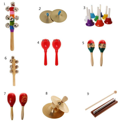 2 Set Diatonic Handbells Hand Percussion for Kids Music Enlightment Toys