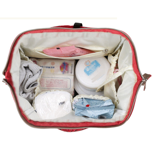 Baby Diaper Backpack For Mom Multifunctional Diaper Nappy Bag Insulated Bag