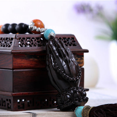 MagiDeal Elegant Buddha Hand Pendant Car Hanging Security and Peace Supplies