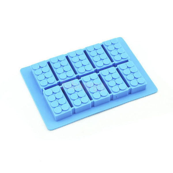 Building Blocks Shaped Ice Cube Tray Silicone Moulds Cake Chocolate Moulds
