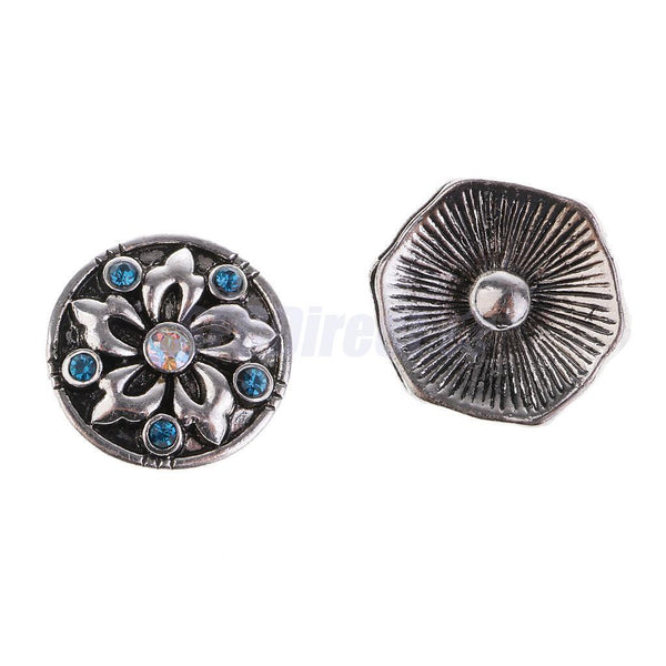 10psc 18mm Flower Butterfly Snap Charm Buttons Fit Ginger Snap Style Jewelry