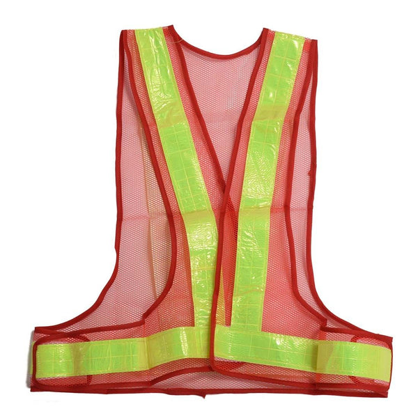 Hi-Viz Reflective Vest High Visibility Warning red Yellow Q2N8