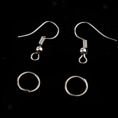 MagiDeal 70g Metal Earring Hook Ear Pins Lobster Clasps for Jewerlry Making
