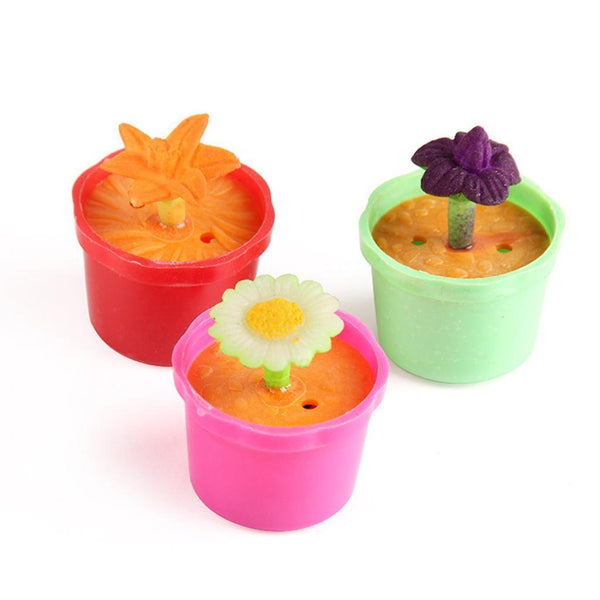 40pcs Colorful Flower Pots Hatching Growing Toys Children Party Bag Fillers