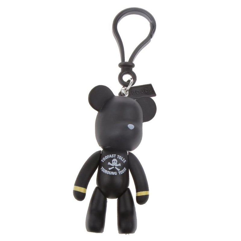 Simple Lovely Bear Cub Pendant Key Chain Ring Collectable Novelty Gift Black