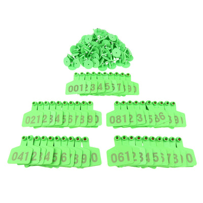 100 Pieces Cow Cattle Pig Livestock Ear Tags with Number 001-100
