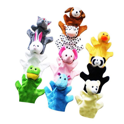 10Pcs Finger Puppets Animal Plush Baby Story Telling Props Educational Toys