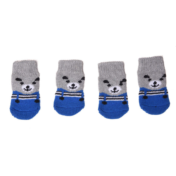 Pet Dog Socks with Non-s Bottom Size: about 3.6 inches long x 1.9 inches wi X8B1