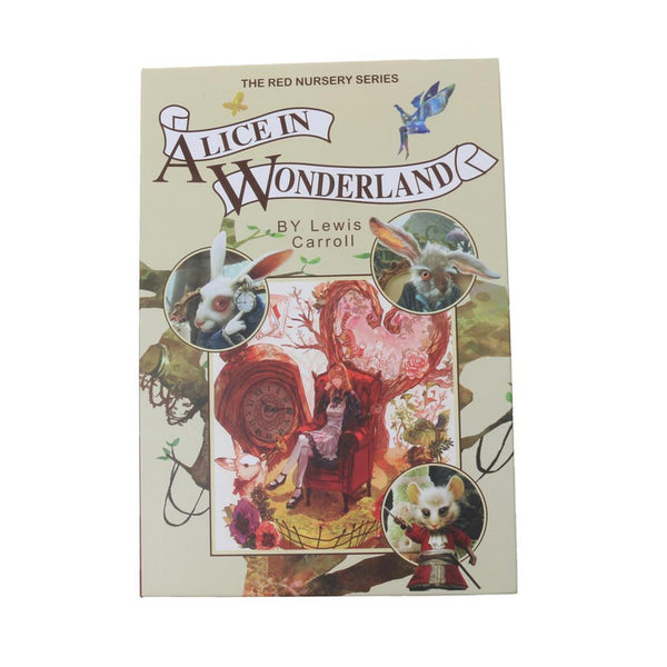 Realistic Alice Wonderland Book Safe Money Jewellery Security Password Box
