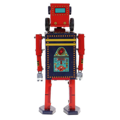 Retro Wind Up Walking Search & Rescue Robot Clockwork Mechanical Tin Toys