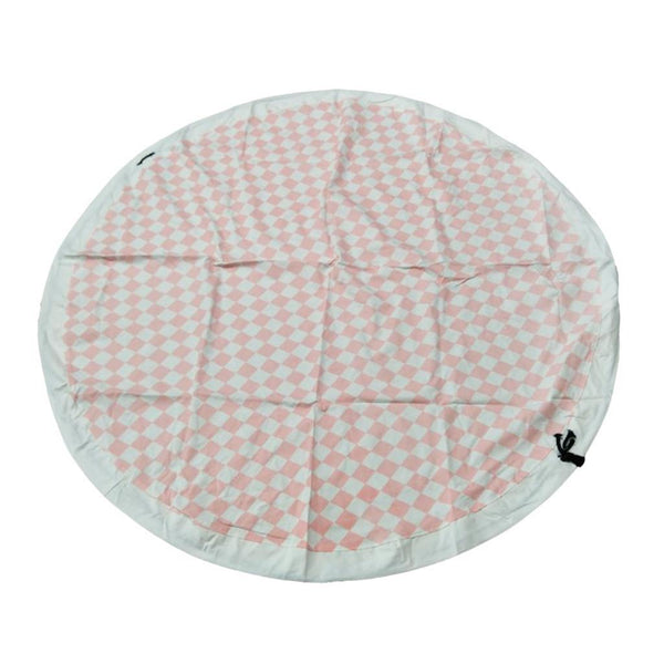 Kid Toys Drawstring Storage Bag Play Mat in One Picnic Blanket 140cm Pink