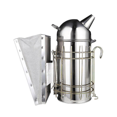 MagiDeal Honey Keeper Bee Hive Smoker Stainless Steel with Heat Shield